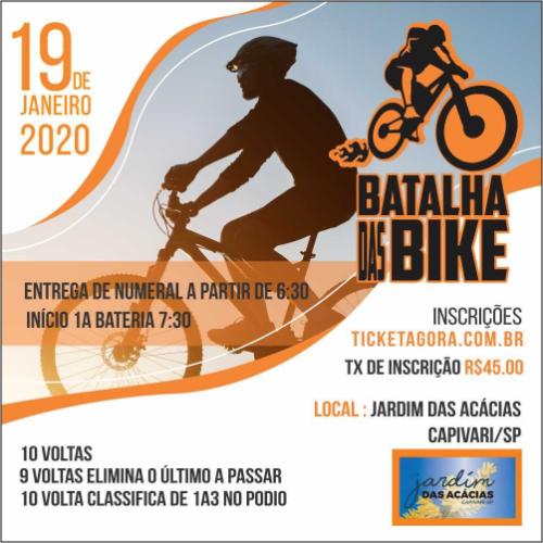 BATALHA DAS BIKES - 1ª ETAPA