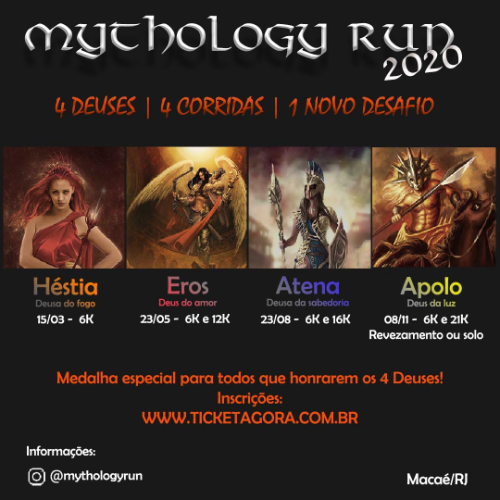 MYTHOLOGY RUN - COMBO 4 ETAPAS