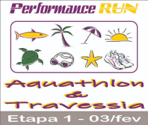 PERFORMANCE RUN AQUATHLON  TRAVESSIA - 03FEV2019 - 1ª ETAPA