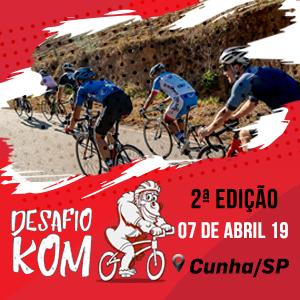 Desafio KOM - Prova de Ciclismo de Estrada  60km e 80km CunhaSP