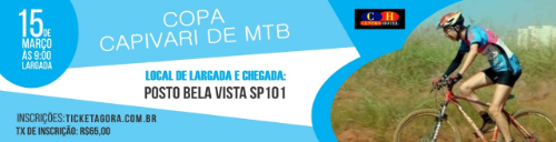 1ª etapa COPA CAPIVARI DE MTB (XCM)