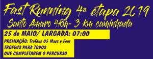 FAST RUNNING SANTO AMARO- 4ª ETAPA 2019