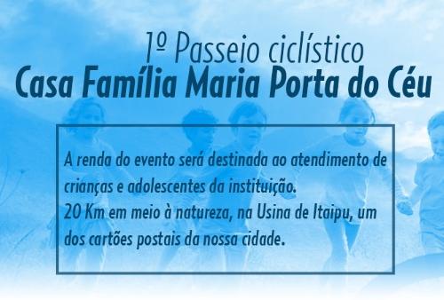 1º PASSEIO CICLÍSTICO DA CASA FAMÍLIA MARIA PORTA DO CEU