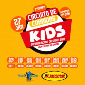 1ª ETAPA do CIRCUITO de CORRIDA KIDS SUPERMERCADO JACOMAR