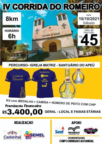 IV CORRIDA DO ROMEIRO - 8K