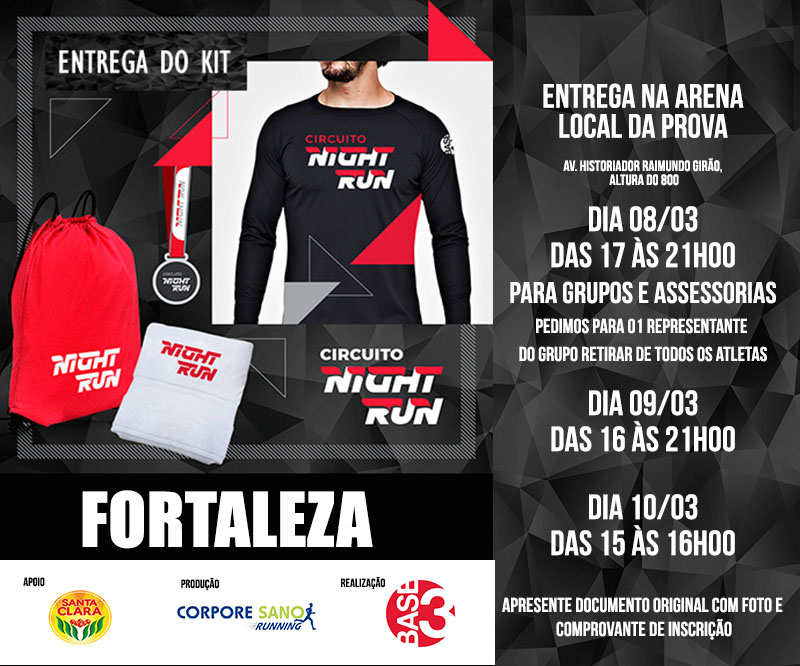 Circuito Night Run : Circuito night run etapa fortaleza