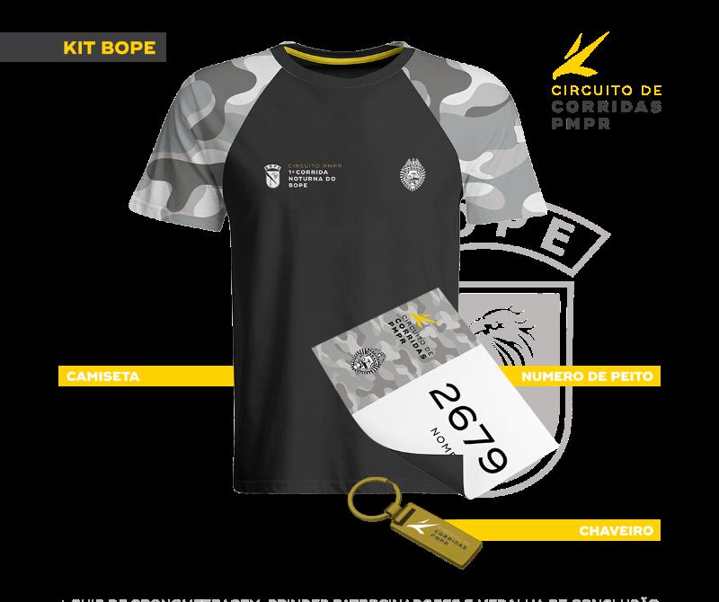 Camiseta  - Chaveiro  - Número de Peito  - Chip de cronometragem  - Brindes  patrocinadores  - Medalha de conclusão. a7f5430f89c9c
