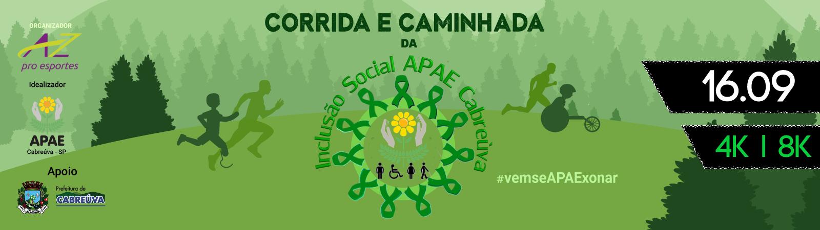CORRIDA E CAMINHADA DA INCLUSÃO SOCIAL APAE CABREÚVA - Imagem de topo