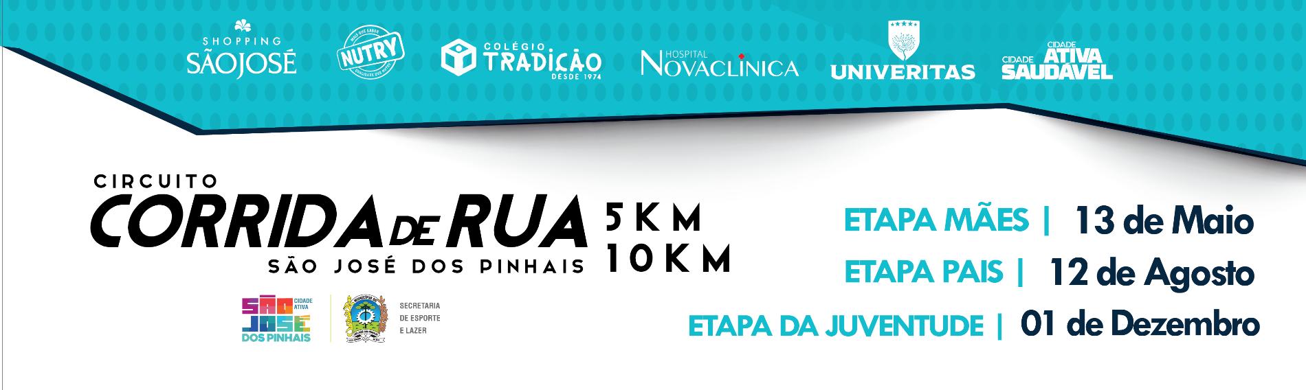 CIRCUITO DE CORRIDAS DE RUA DE SÃO JOSÉ DOS PINHAIS - ETAPA DAS MÃES - Imagem de topo
