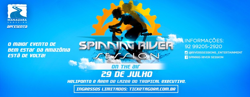 SPINNING RIVER SESSION ON THE AIR - Imagem de topo