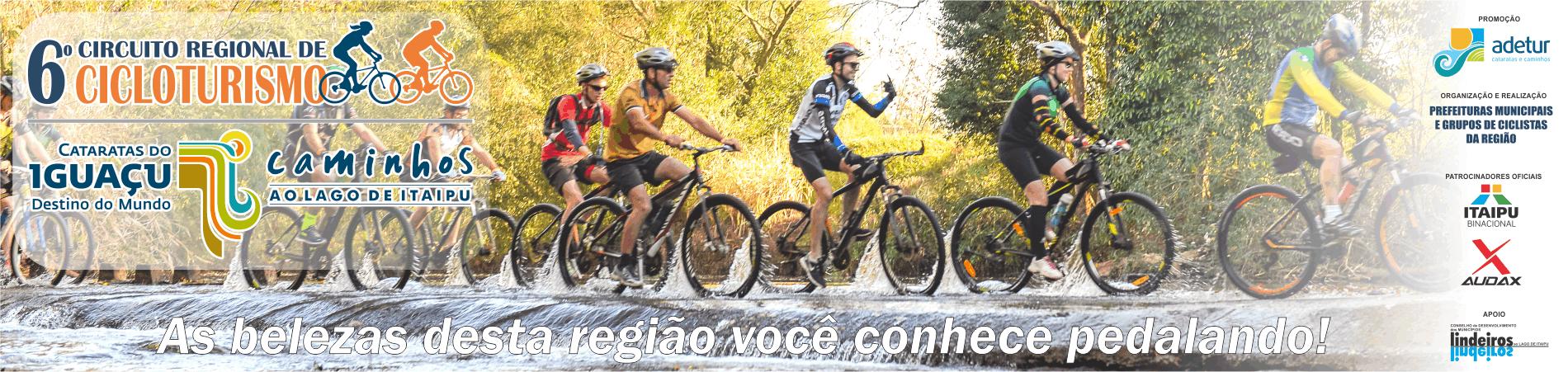 6ª edição Circuito Regional de Cicloturismo - Etapa santa terezinha de itaipu - Imagem de topo