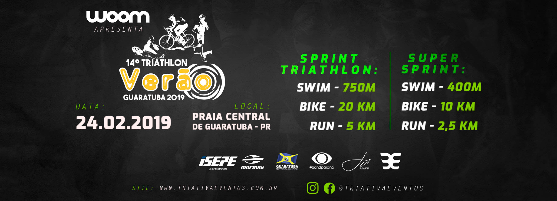 TRIATHLON DE VERÃO - DUATHLON - TRAVESSIA - GUARATUBA - PR
