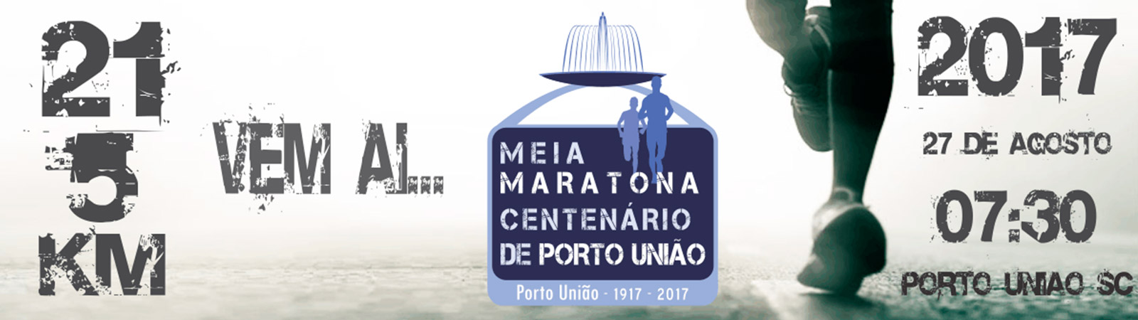 MEIA MARATONA CENTENÁRIO DE PORTO UNIÃO - Imagem de topo