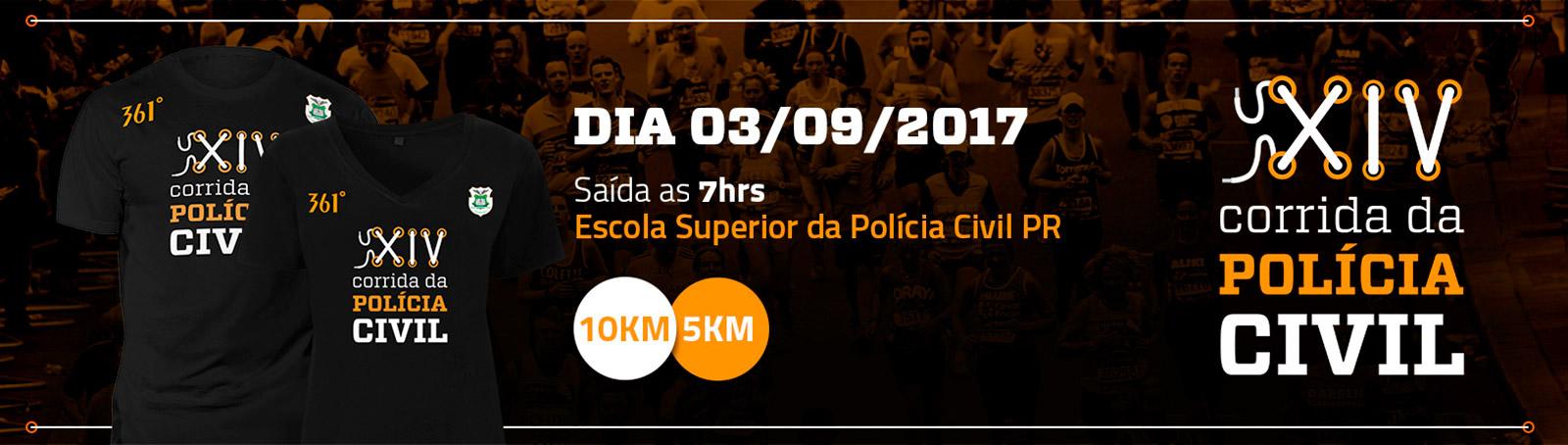 XIV CORRIDA DE RUA DA POLÍCIA CIVIL DO PARANÁ - Imagem de topo