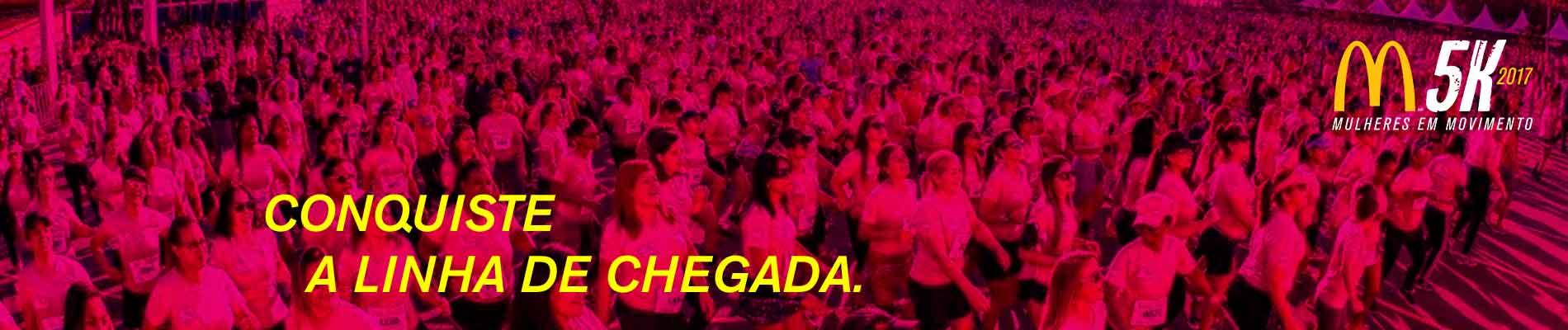 CORRIDA E CAMINHADA FEMININA McDONALD'S 5K 2017 - SÃO PAULO - Imagem de topo