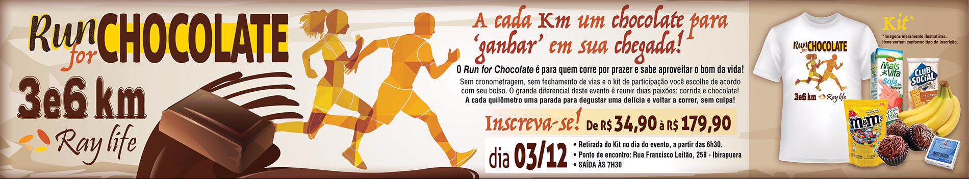 RUN FOR CHOCOLATE 3KM E 6KM - Imagem de topo