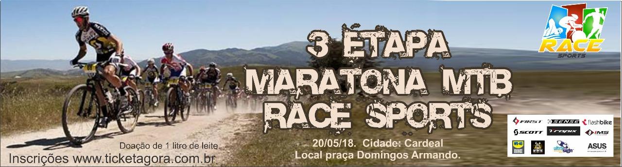 3º ETAPA MARATONA RACE SPORTS - Imagem de topo