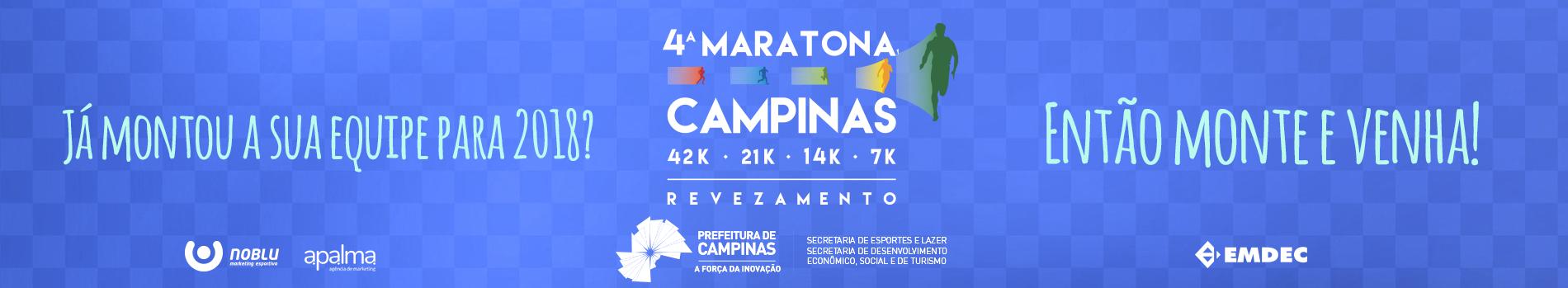 4ª MARATONA DE CAMPINAS - Imagem de topo