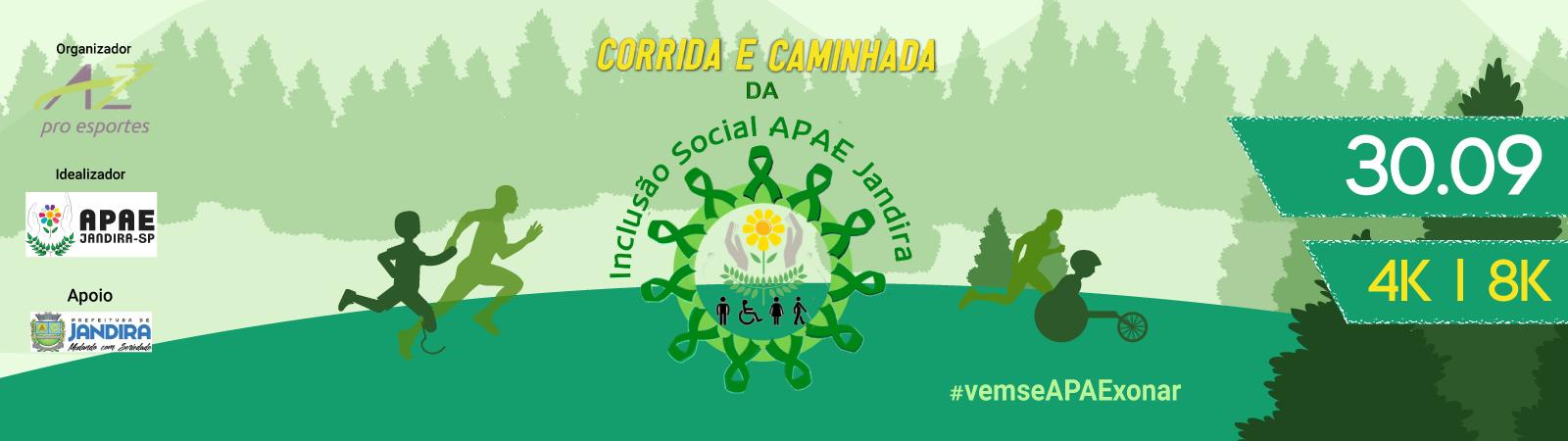 CORRIDA E CAMINHADA DA INCLUSÃO SOCIAL APAE JANDIRA - Imagem de topo