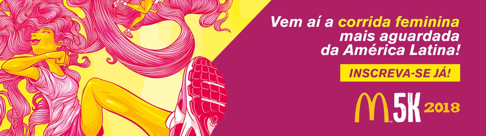CORRIDA E CAMINHADA FEMININA McDonald's 5K 2018 - RIO DE JANEIRO - Imagem de topo