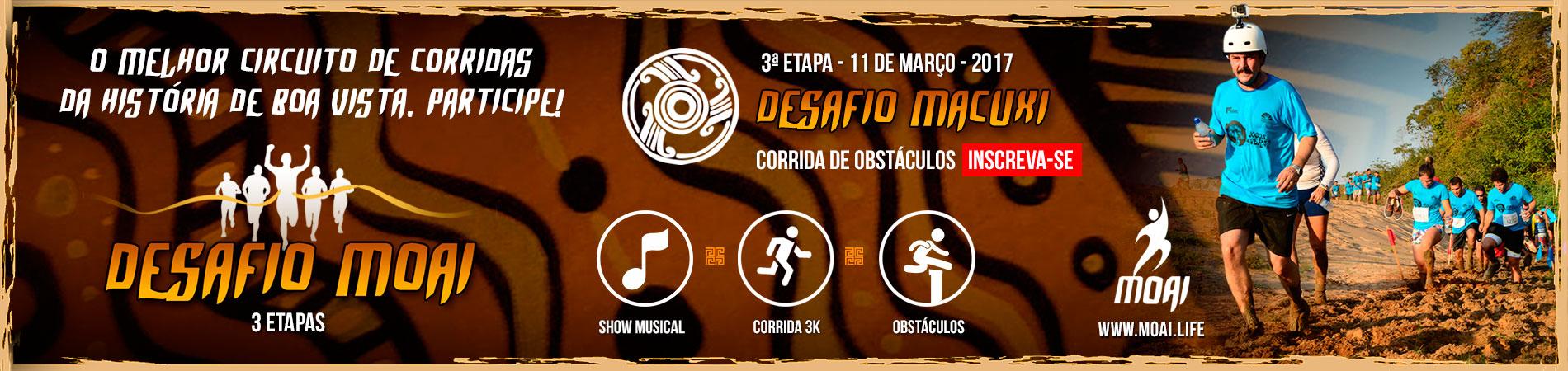 DESAFIO MOAI - ETAPA MACUXI - CORRIDA DE OBSTÁCULOS - Imagem de topo