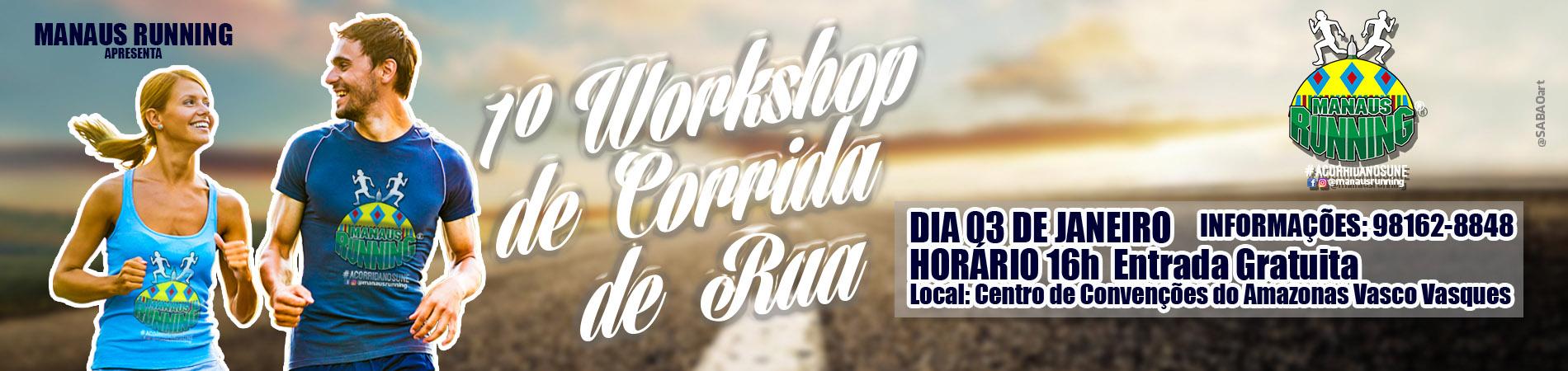 1° WORKSHOP DE CORRIDA DE RUA - MANAUS/AM - Imagem de topo