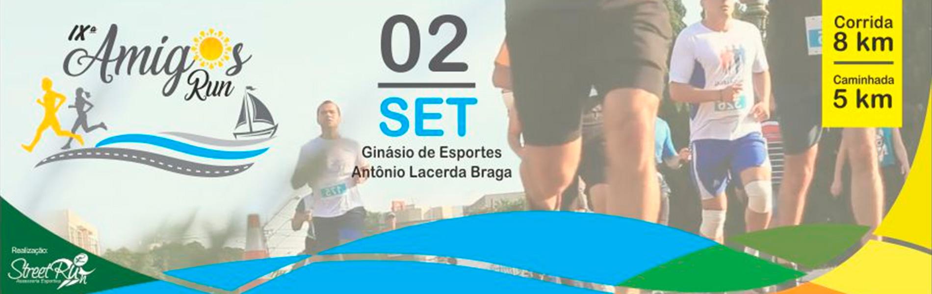 9ª CORRIDA DE RUA DOS AMIGOS - 2018 - Imagem de topo