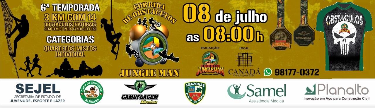6ª CORRIDA DE OBSTÁCULOS JUNGLE MAN - 2018 - Imagem de topo