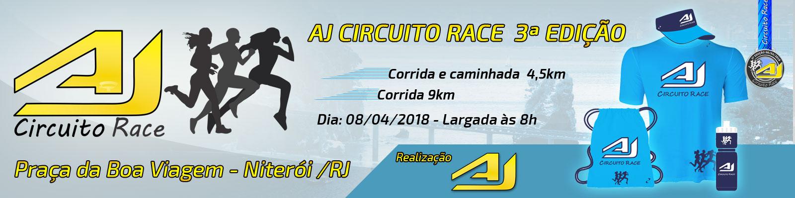 AJ CIRCUITO RACE 3ª EDIÇÃO - NITERÓI/RJ - Imagem de topo
