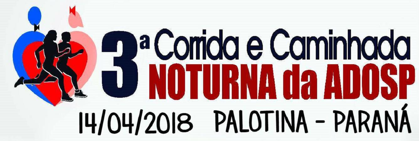 3ª CORRIDA E CAMINHADA NOTURNA DA ADOSP - Imagem de topo