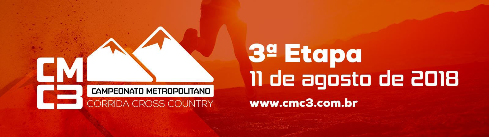 CMC3 - CAMPEONATO METROPOLITANO DE CORRIDA CROSS COUNTRY - 3ª ETAPA