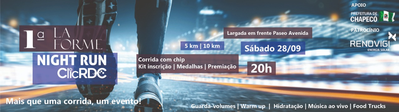 1ª LA FORME NIGHT RUN CLICRDC