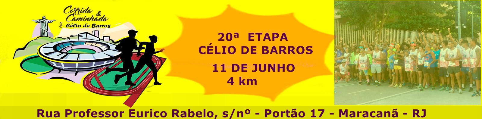 20ª CORRIDA E CAMINHADA DE CONFRATERNIZAÇÃO PELA RECONSTRUÇÃO DO ESTÁDIO DE ATLETISMO CÉLIO DE BARROS - Imagem de topo