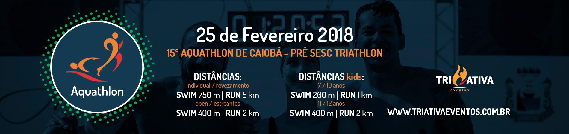 15º AQUATHLON DE CAIOBÁ - 2018