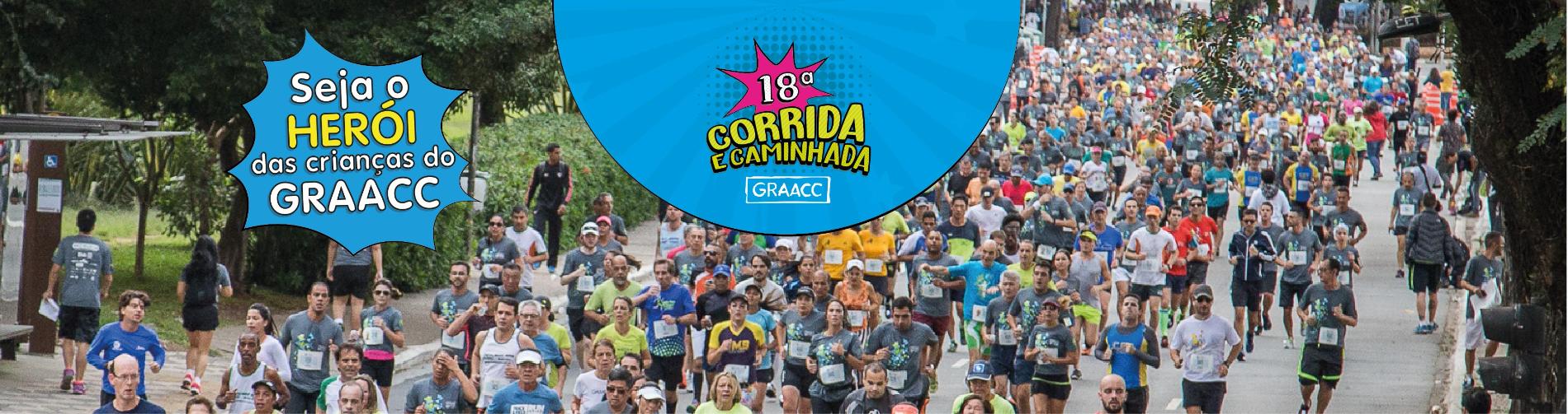 18ª CORRIDA E CAMINHADA GRAACC - Imagem de topo