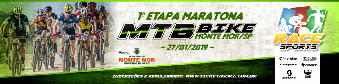 1ª ETAPA - MARATONA DE MOUNTAIN BIKE RACE SPORTS - MONTE MOR