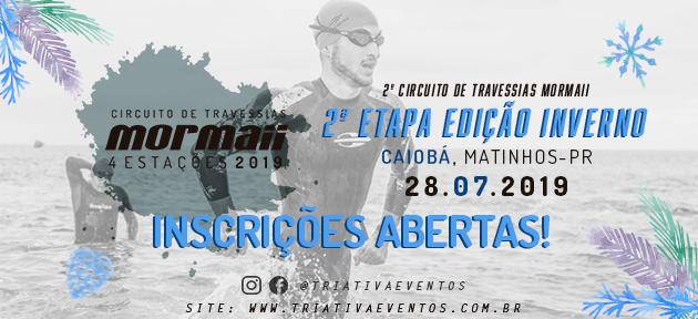 CIRCUITO DE TRAVESSIAS MORMAII 2019 - 2 ETAPA