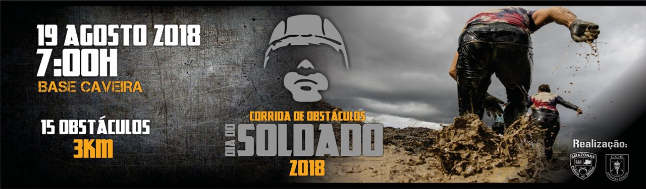 CORRIDA DE OBSTÁCULOS DIA DO SOLDADO 2018 - Imagem de topo