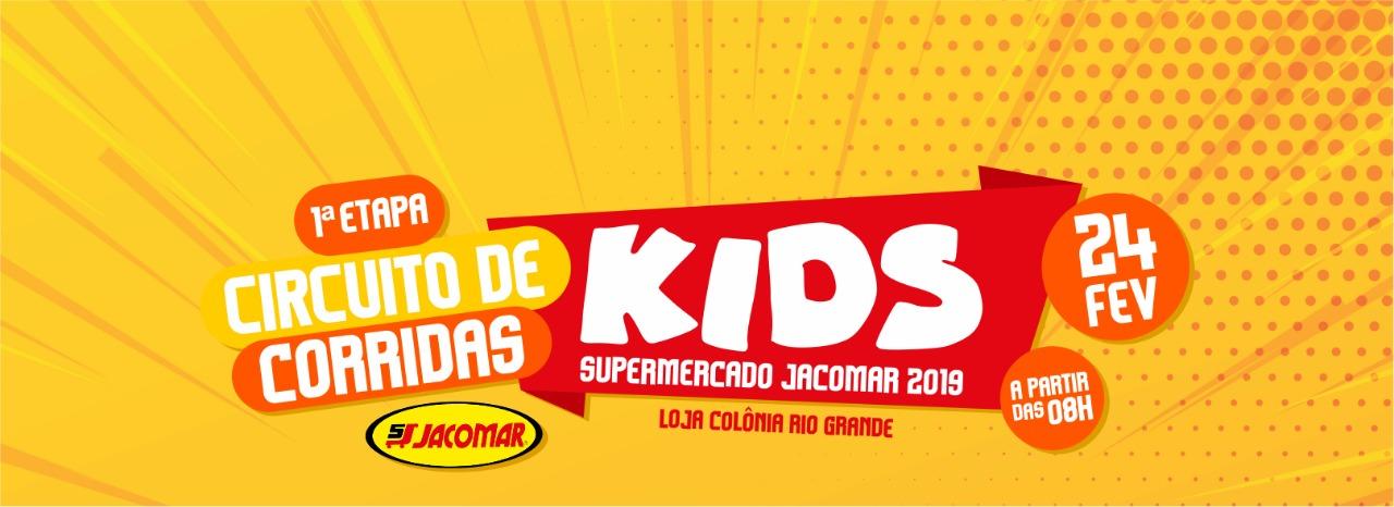 1ª ETAPA do CIRCUITO de CORRIDA KIDS SUPERMERCADO JACOMAR 2019