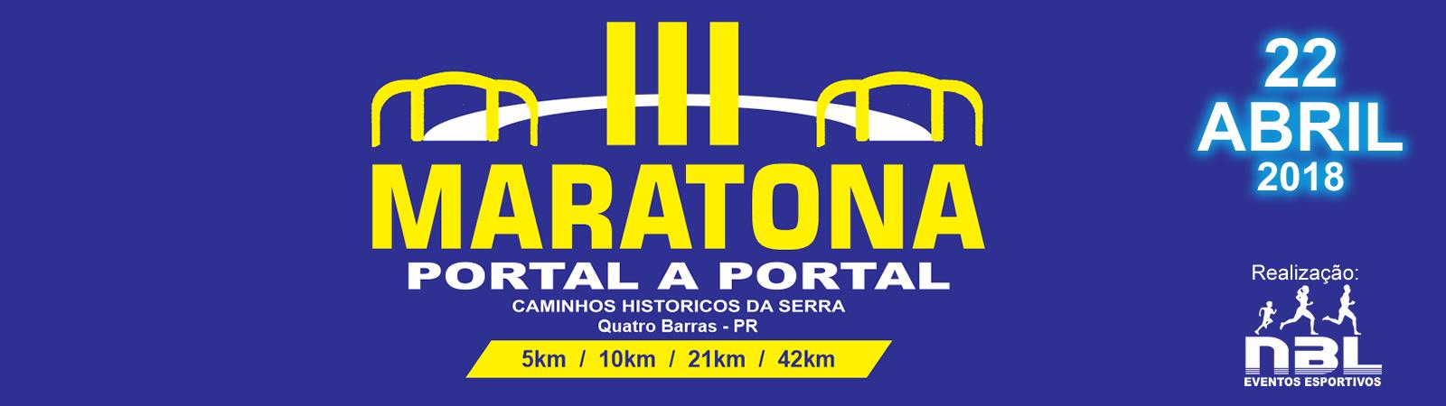 3ª MARATONA PORTAL A PORTAL - CAMINHOS HISTóRICOS DA SERRA - Imagem de topo