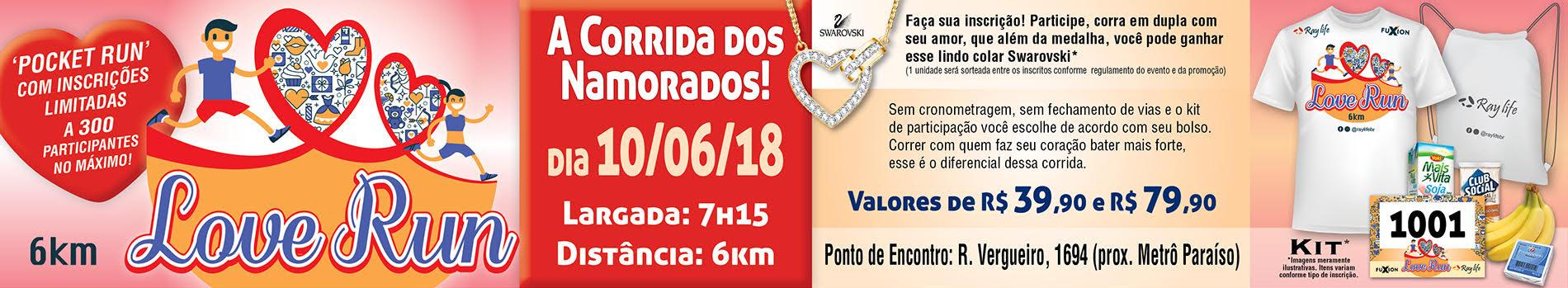 LOVE RUN  6KM - CORRIDA DOS NAMORADOS - Imagem de topo