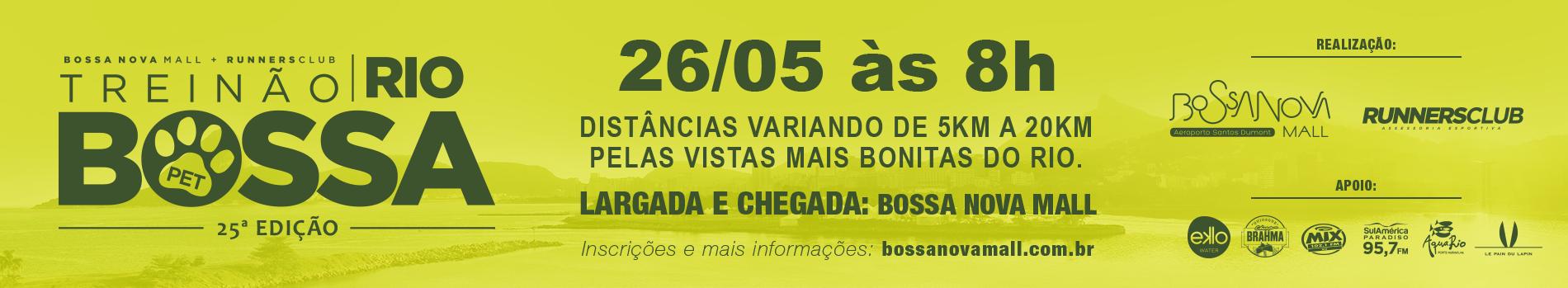 TREINÃO BOSSA - RIO DE JANEIRO RJ - edição pet