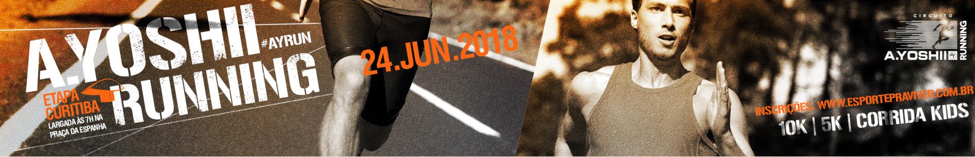 A.YOSHII RUNNING - ETAPA CURITIBA - PRAÇA ESPANHA - Imagem de topo