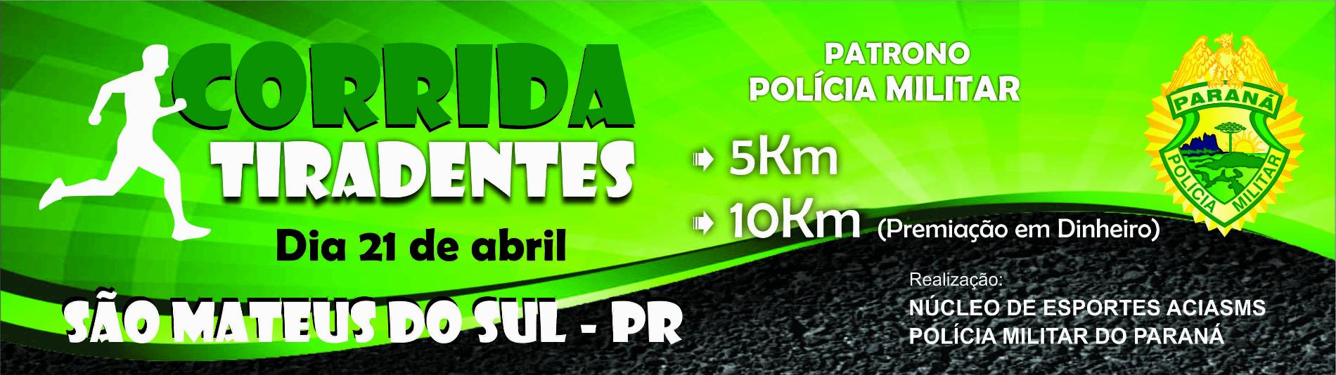 Corrida Tiradentes - Patrono da Polícia Militar - Imagem de topo