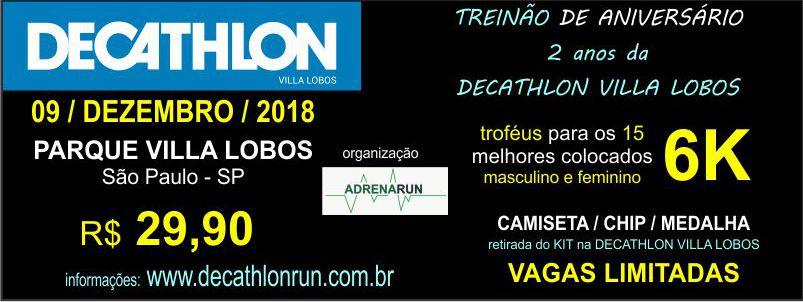 TREINÃO DE ANIVERSÁRIO DECATHLON - VILLA LOBOS 2018 - Imagem de topo