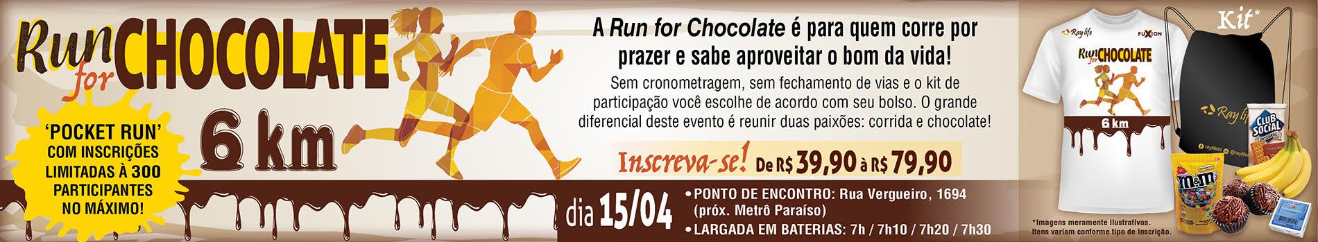 Run for Chocolate 2018 - Imagem de topo