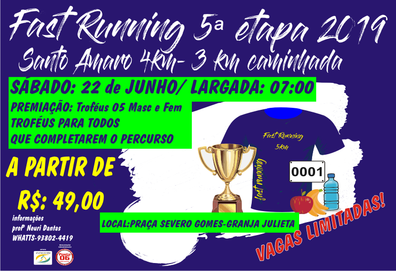 FAST RUNNING SANTO AMARO- 5ª ETAPA 2019