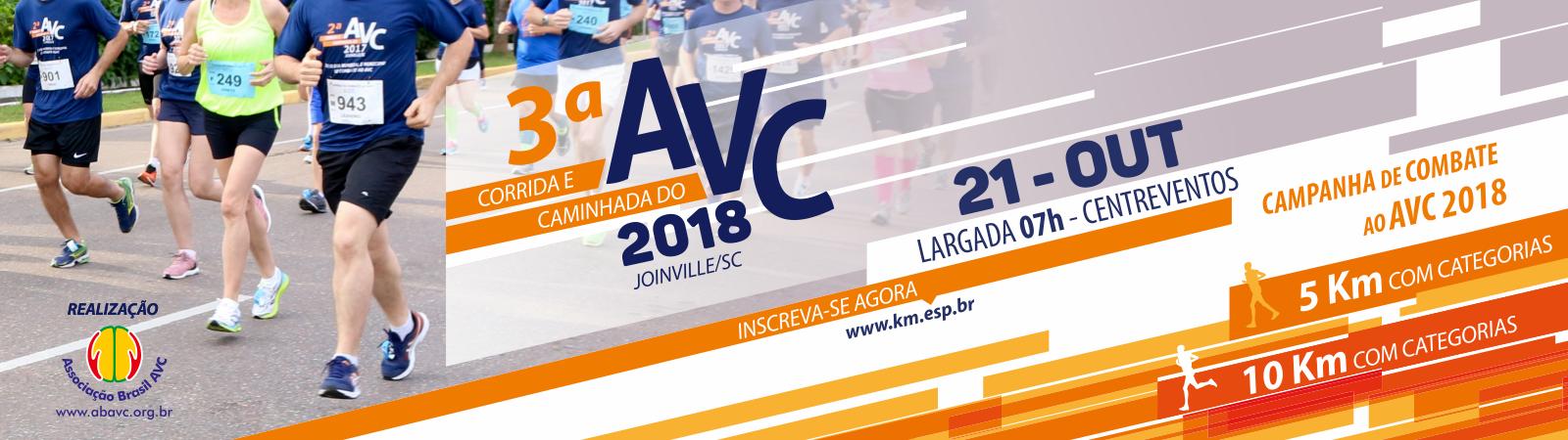 3ª CORRIDA E CAMINHADA DE COMBATE AO AVC - 2018 - Imagem de topo