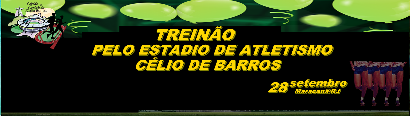 TREINÃO NO MARACANÃ, PELO ESTÁDIO DE ATLETISMO CÉLIO DE BARROS