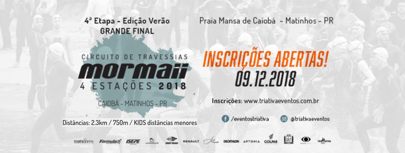 CIRCUITO DE TRAVESSIAS MORMAII 2018 - ETAPA VERÃO - Imagem de topo